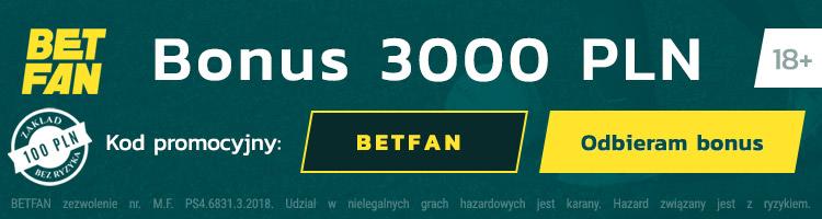 polski bukmacher betfan oferuje bonus bez podatku