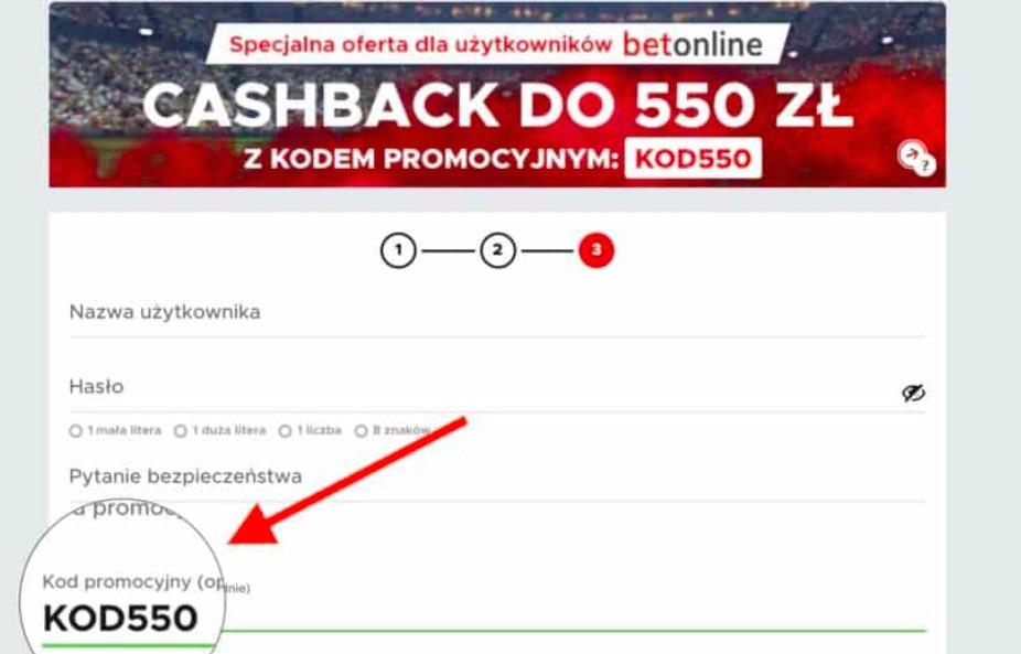 """Najwyższy cashback na rynku z kodem """"KOD550"""" w Betclic"""